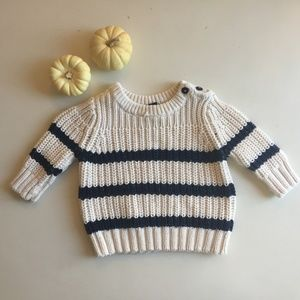 Baby Infant Striped Knit Sweater